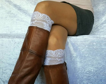 LACE BOOT CUFFS Womens Boot Socks Lace Boots Toppers Half Socks Cute Yoga Socks Lace Boot Cuffs Lace Socks Lace Cuff Black Lace Socks Cuffs