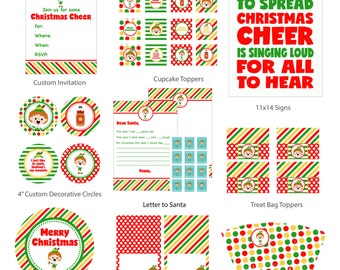 Buddy the Elf Printable Party Pack, Christmas Party, Elf Party, Instant Download, Digital, Printable