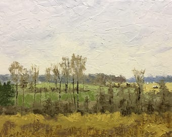 """Original Impressionist Oil Landscape Painting 11x14 """"On Such A Winters Day"""""""