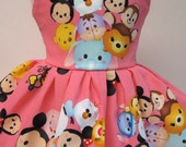 Mickey and Friends Tsum Tsum, Pink Sleeveless Dress for your 18 Inch Doll E