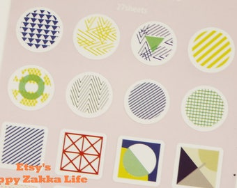 Geometry - Die-Cut Paper Deco Sticker - 1 Sheet