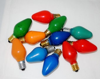 Vintage C7 Christmas Tree Light Bulbs