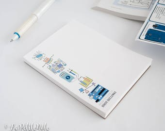 Engineer Personalized Notepad (VERTICAL)/ Engineer Notepad/ Electrical Engineering Notepad
