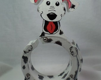 Moving Sale - Dalmatian with happy, floppy ears Wooden Coin Bank