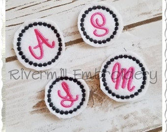 Sweetheart Alphabet Initial Feltie Machine Embroidery Designs - 3 Sizes
