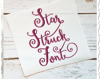 Star Struck Machine Embroidery Font Monogram Alphabet - 3 Sizes