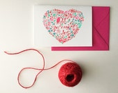All You Need is Love in Pink- Blank Greeting Card