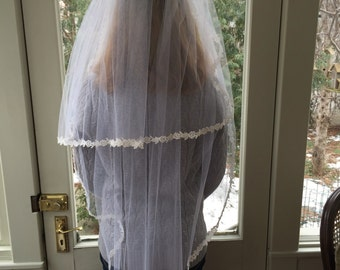 Vintage Wedding Veil - Lace Wedding Veil - Wedding Accessories - Wedding Dress Accessory - Long Wedding Gown Veil