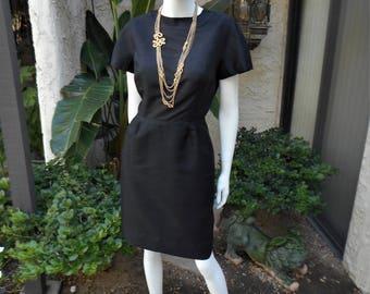 Vintage 1960's Black Dress - Size 12