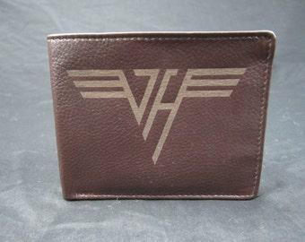 Van Halen leather bi fold wallet- hand made premium leather