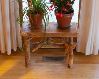 Rustic bench -  Child bench - Rustic home decor -Modern rustic decor - Log furniture