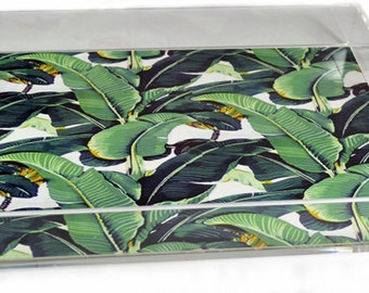 Acrylic Serving Tray / Banana Leaf Insert