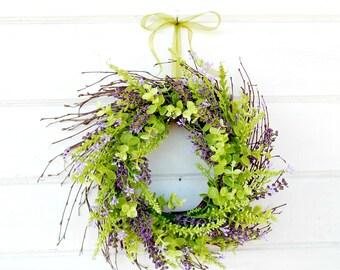 MINI TWIG WREATH-Lavender & Eucalyptus Mini Window Wreath-Wall Decor-Spring Wreath-Farmhouse Wreath-Country Chic Decor-Small Wreath-Gifts