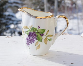Salisbury Lilac Bone China Pitcher Made in England