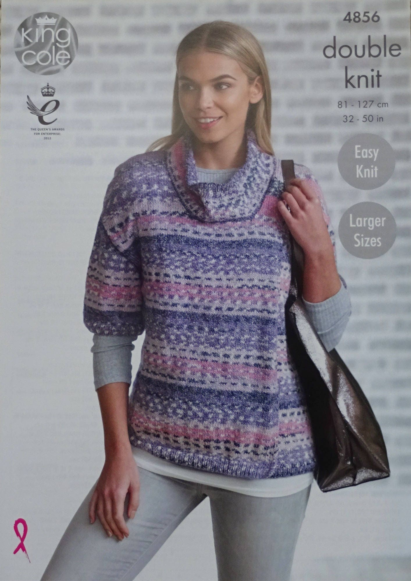 Womens Knitting Pattern K4856 Ladies Easy Knit Cowl Neck Short ...