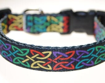 """Celtic Knot - 5/8"""" Wide Adjustable Dog Collar"""