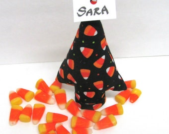 CandyCorn Fabric Party Favor Place Card Holder itty bitty Style TREE-Stand