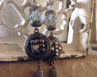 Victorian Button Earrings