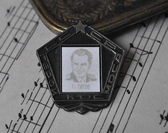 "Vintage Soviet Russian Space badge,pin.""Soviet cosmonaut"""