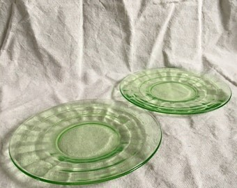Hocking Block Optic Green Plates