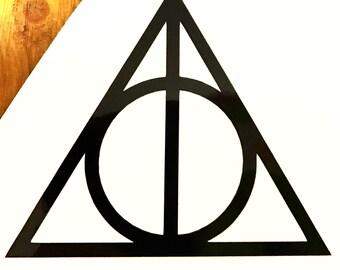 Harry Potter Deathly Hallows symbol vinyl decal