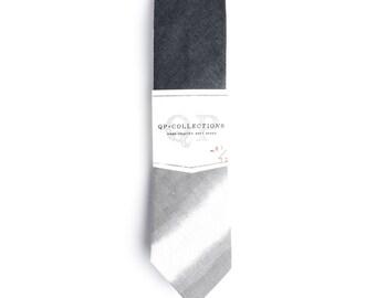Grey Ombre - Skinny Tie - Wedding - Monogram - Groom