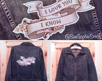 Geeky Sci-Fi Tattoo Patch Denim Jacket