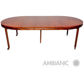 Mid Century Modern Oval Dining Table by Michael Taylor for Baker