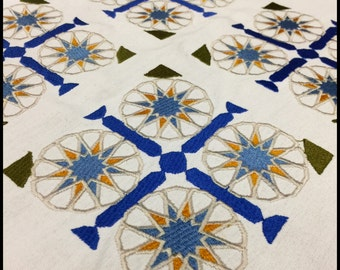 Moroccan Inspired Table Cloth Project