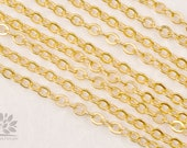 C120-MG// Matt Gold Plated Cable Chain, 5M