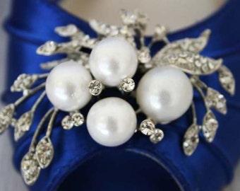 Wedding Shoes, Blue Wedding Shoes, Bridal Heels, Bridesmaids' Shoes, Wedding, Simple Wedding Shoes, Peep Toes, Wedding, Shoes