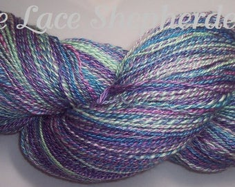 Handspun sport weight Polwarth wool/Seacell/Kid Mohair yarn. 546 yards