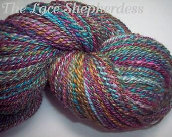 Handspun sport weight BFL wool yarn. 360 yards