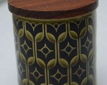Green and Black Hornsea Heirloom Jam Pot