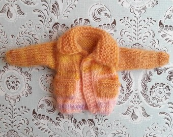 Shades of Yellow and Pink Mohair Wool Blythe Cardigan