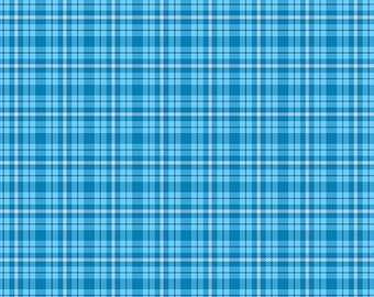Blue Plaid from Andover Fabric's Modern Plaids Collection