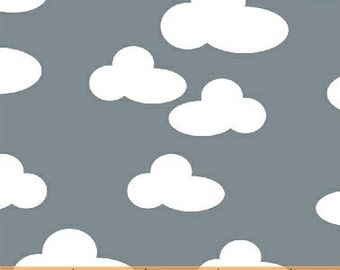 Clouds on Grey from Windham Fabric's Farm Collection by French Bull