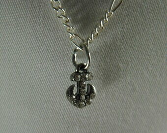 Doll, necklace, american, made, girl, doll jewelry, accessories, 18 inch doll, Silver, chain, anchor