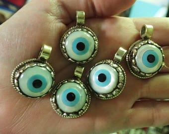 Mother of Pearl Evil Eye Pendant