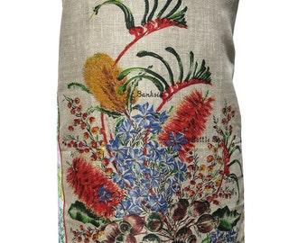 Metro Retro 'Western Australia Wildflowers'  Vintage Tea Towel HANDMADE Apron -  Mother's Day  Birthday Gift  - OOAK