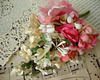 Antique Vintage Velvet Millinery Flowers Posy - #8