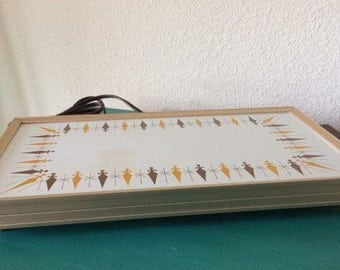 Vintage Gold & Brown Cornwall Electric Warming Tray