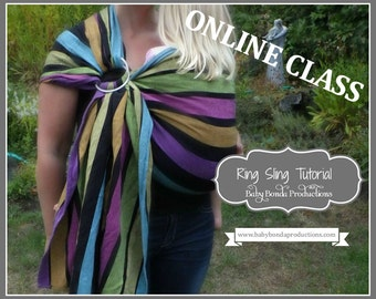 Sew Your Own Ring Sling ~ Baby Carrier ~ PDF Tutorial and Video ~ Sewing Class