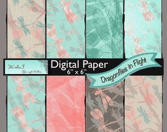 We Are 3 Digital Paper, Dragonflies in Flight