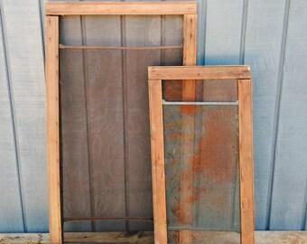 Antique Wooden Window Screens - Vintage Windows