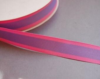 "3yds - 7/8"" Pink/Purple Grosgrain Ribbon"
