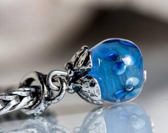 Small core  Dangle SRA Lampwork Bead  european charm bracelet BHB sterling silver