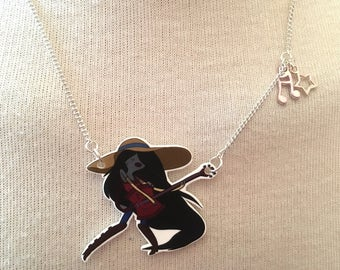 Silver Plated Handmade Marceline Rockstar Adventure Time Necklace