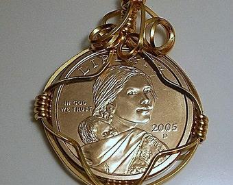United States Sacagawea Dollar Pendant 2005
