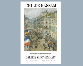 Gallery Poster - Childe Hassam - July Fourteenth - Print - Poster - Color